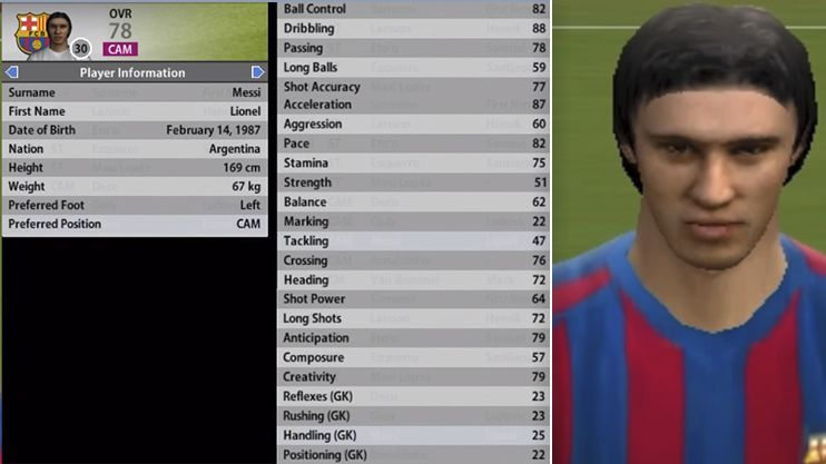 Messi in 06