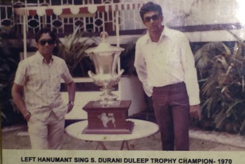 Salim Durani & Hanumant SIngh with the 1970 Duleep Trophy