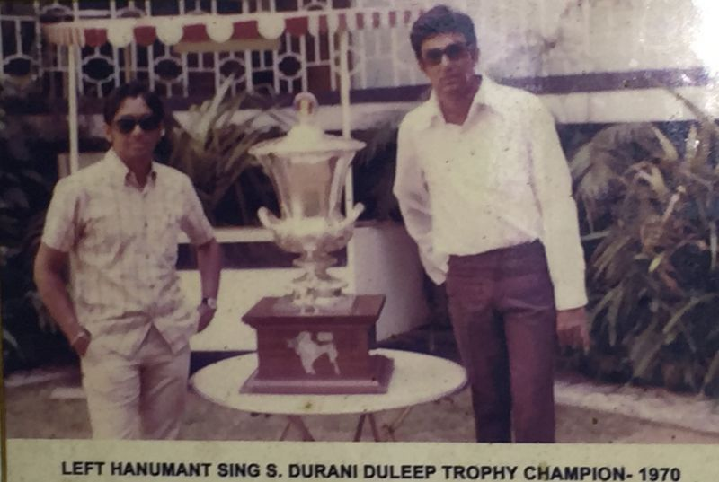 Salim Durani & Hanumant SIngh with the 1970 Duleep Trophy