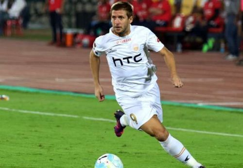 Alfaro was NorthEast United's top scorer in ISL 2016