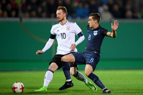 Winks in action against current U21 Champions, Germany