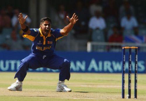 Chaminda Vaas of Sri Lanka appeals