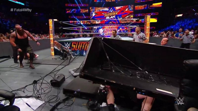 Lesnar disappeared for a large portion of a SummerSlam title defense.