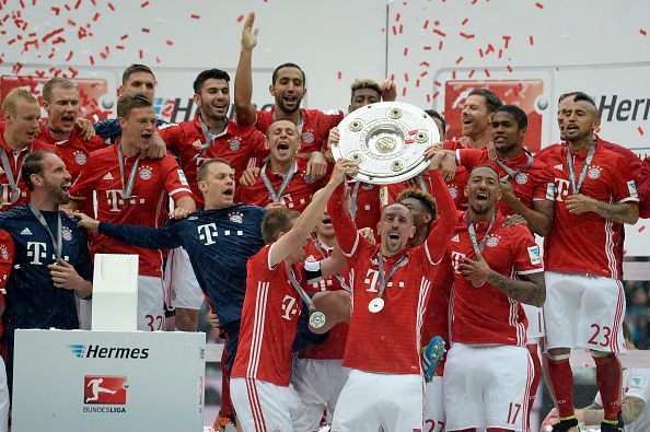 Bayern Munich won five Bundesliga titles in a row