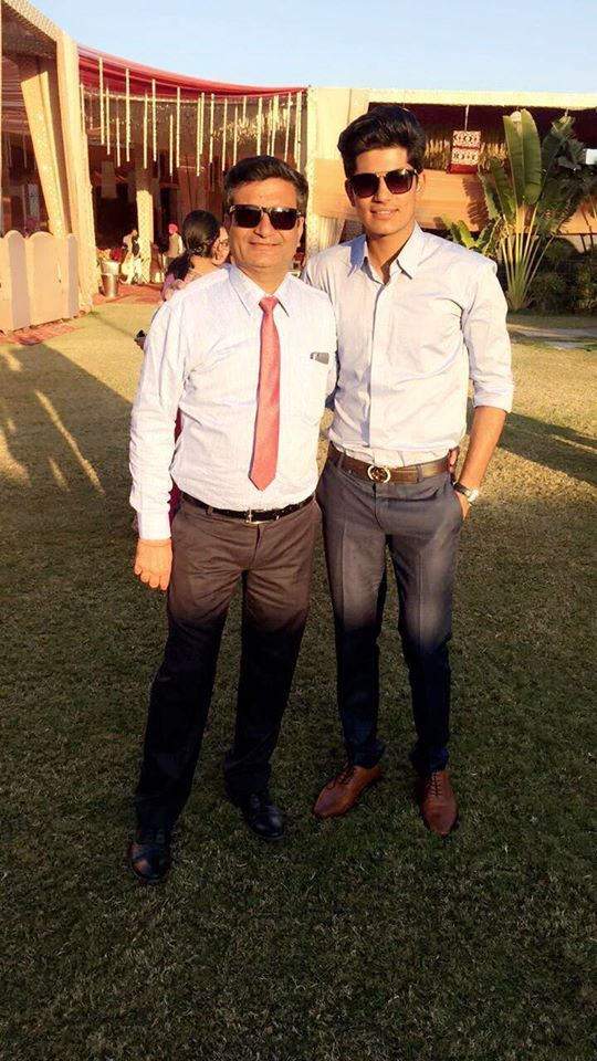Shubman Gill with his father Lakhwinder Gill