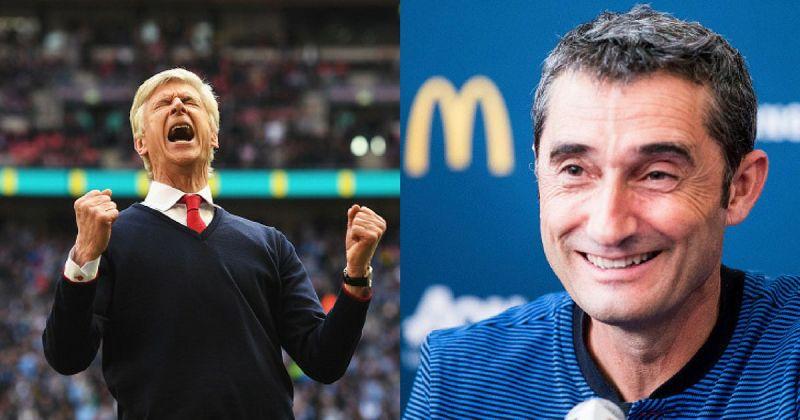 Arsene Wenger and Ernesto Valverde