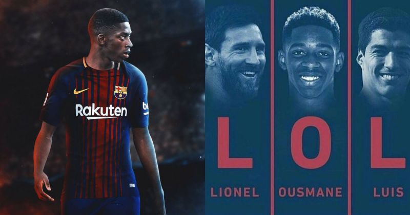 promo code aa6de 4f115 Twitter explodes as Barcelona confirm Ousmane Dembele's signing