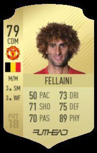 Fellaini's FUT 18 card