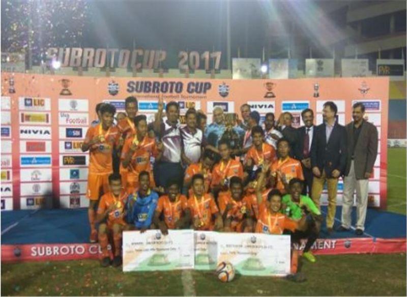 Jharkhand won the 2017 Subroto Cup (h/t: India Samvad)