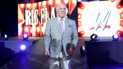 Ric Flair at Wrestlemania Axxess for the reveal of the 'Ric Flair' Statue