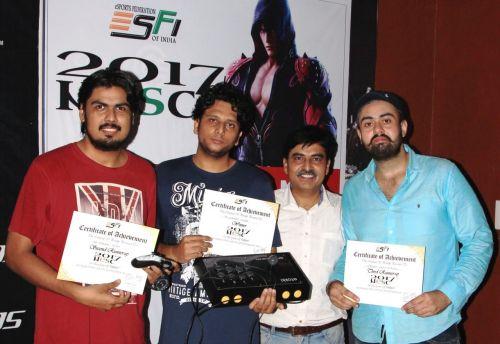 Team India Left to Right - Abhinav Tejan, Loveneet, Lokesh Suji and Gurneet Singh