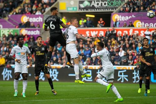 Lascelles' towering header against Swansea gave the sway side the lead