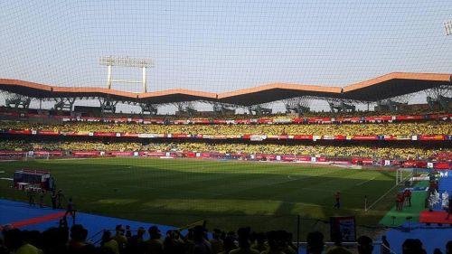 The Jawaharlal Nehru Stadium in Kochi