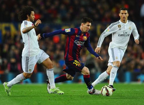 Messi has appeared in 385 matches for Barcelona.