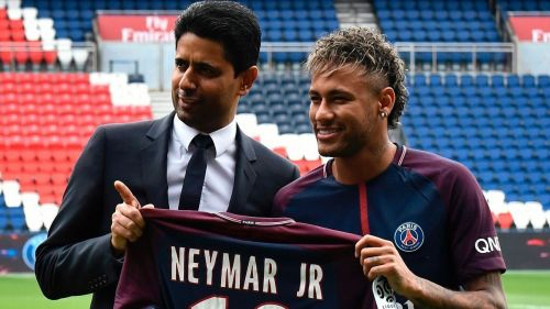 The President of PSG, Nasser Al-Khelaifi smashed the transfer record to land Neymar for almost £200m
