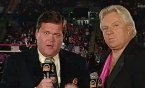 Jim Ross (Left) and Bobby Heenan (Right) were broadcast partners in the old days.