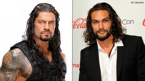 Roman Reigns and Jason Momoa