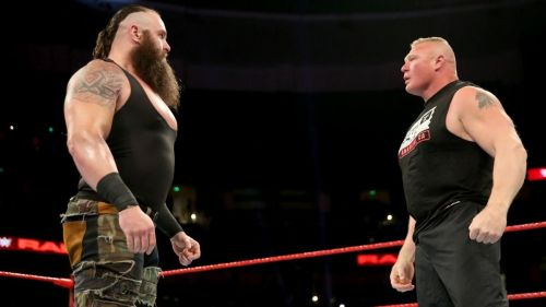 Brock Lesnar once again witnessed the might of Braun Strowman