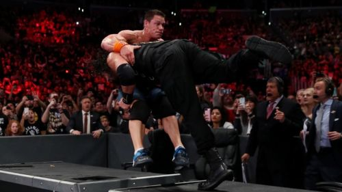 Did Reigns prove to Cena that the WWE is his yard now?