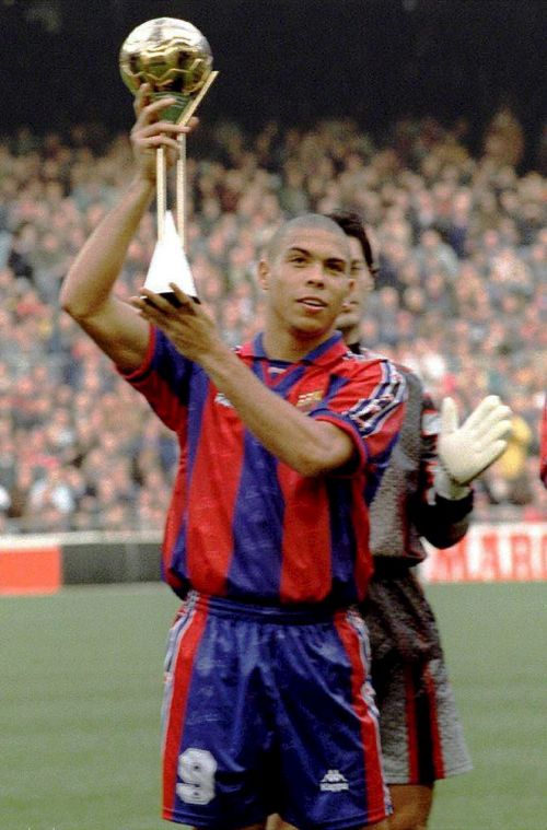 Aged just 20, Ronaldo won the FIFA World Player of the Year in 1997. He would also go on to win the coveted prize again in 1997 and 2002.