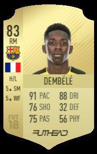 Dembele's FUT 18 card