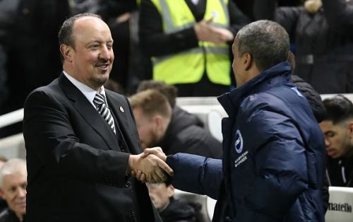 Benitez and Hughton will renew their friendly rivalry in the Premier league come Sunday
