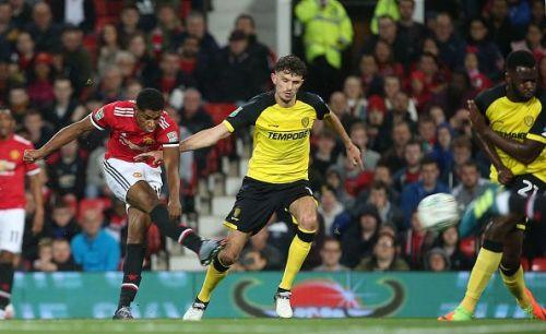 Rashford scored a screamer against Burton a few days ago