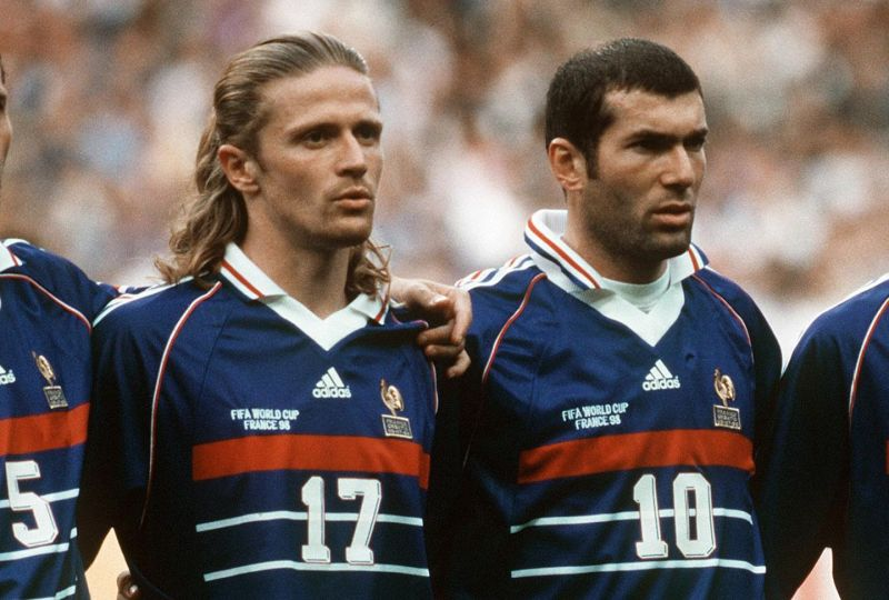 Emmanuel Petit (L) started out at the U-17 stage and won the 1998 World Cup alongside Zinedine Zidane
