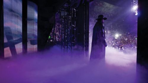 The Undertaker about to make his entrance