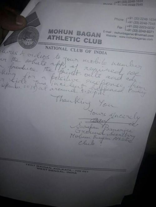 Mohun Bagan's letter (2nd page)