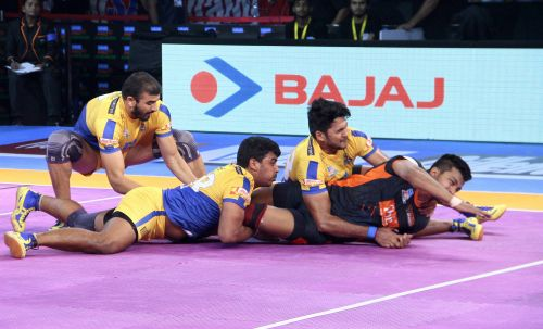 The Thalaivas defence shut down the Warriors' raiders for large stretches of the match