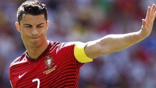 Portugal Ace Cristiano Ronaldo in National duty.