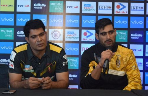 Rahul Chaudhari (right) cut a frustrated figure after the match