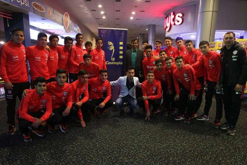 The Chile team that went for the screening (image source: Chile football official website)