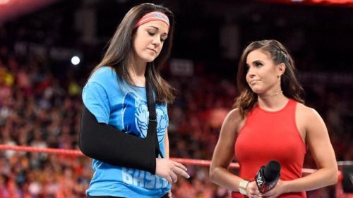 Bayley in ring with Charly Caruso