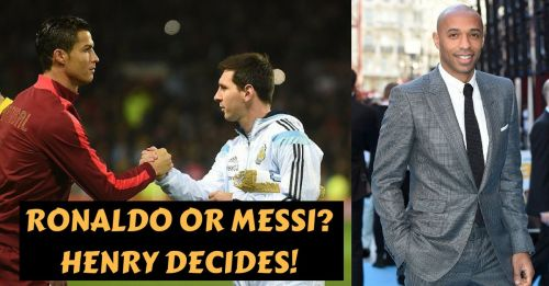 Cristiano Ronaldo, Lionel Messi and Thierry Henry