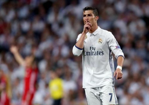 Ronaldo has some epic celebrations even in reality.