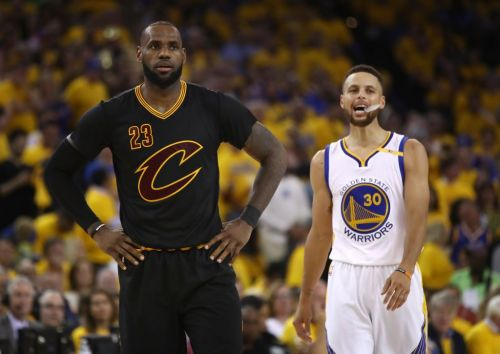 LeBron James and Stephen Curry