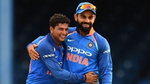 Kuldeep became the third Indian to pick up a hat-trick in ODIs