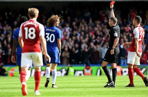 Chelsea Arsenal highlights David Luiz red card