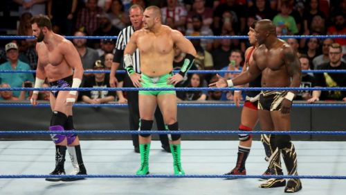 Ryder refused to shake the hands of his conquerers last week on SmackDown Live