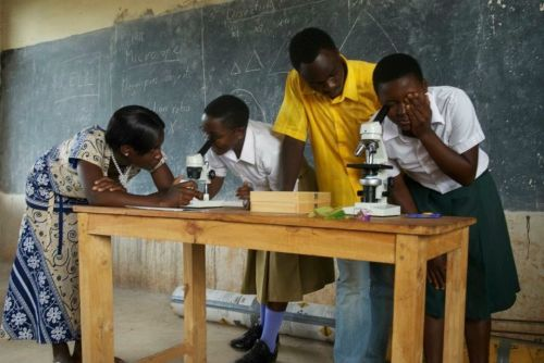 Orphan Africa students at the Mwaji Secondary School which is free for orphans.