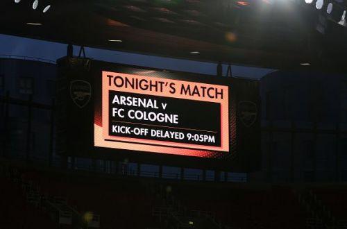 Arsenal Koln kickoff delayed