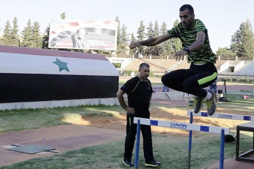 Ghazal training at the National Stadium in Syria (Image courtesy: IAAF)