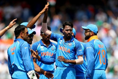 India cruised to a comfortable 26 run victory in a rain-shortened encounter