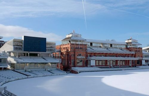 The legendary cricket ground covered in snow