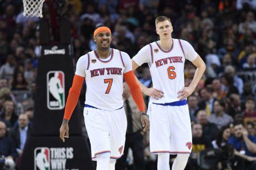 Now, former teammates Carmelo Anthony and Kristaps Porzingis
