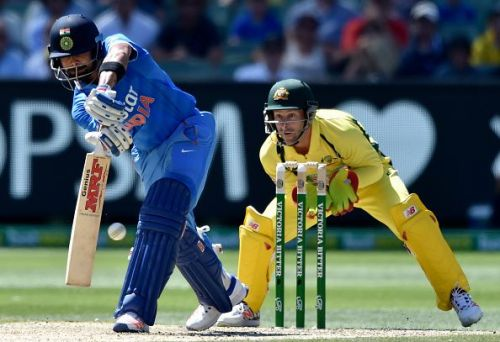 Kohli regained his lost form against the Aussies in the second match of the five-ODI series