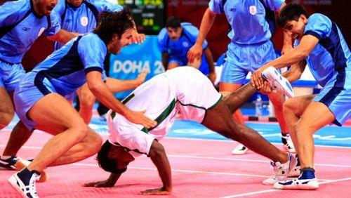 Kabaddi players in action (Representative image)