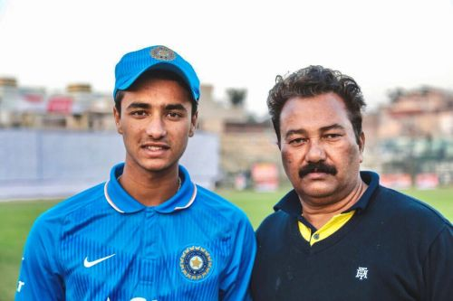 Abhishek with his father Raj Kumar Sharma